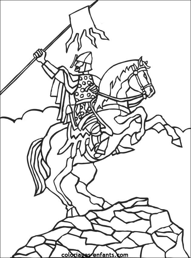 Nos Jeux De Coloriage Chevalier À Imprimer Gratuit - Page pour Coloriage Chevalier À Imprimer