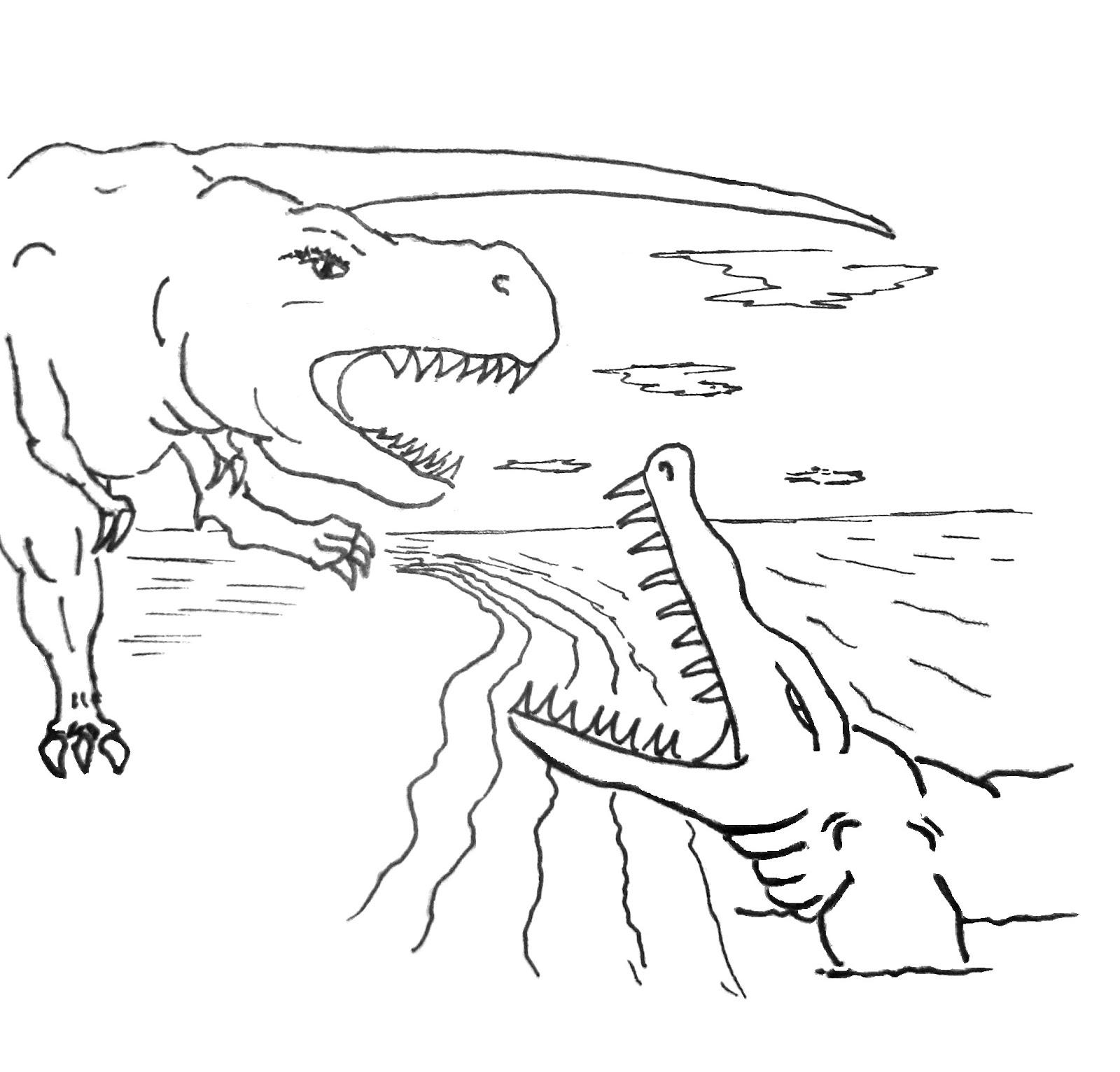 Nos Jeux De Coloriage Dinosaure À Imprimer Gratuit - Page destiné Coloriage De Dinosaure Gratuit
