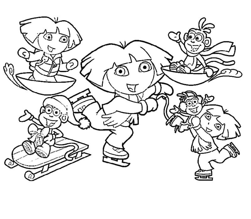 Nos Jeux De Coloriage Dora À Imprimer Gratuit - Page 8 Of 14 serapportantà Jeux De Dessin Dora