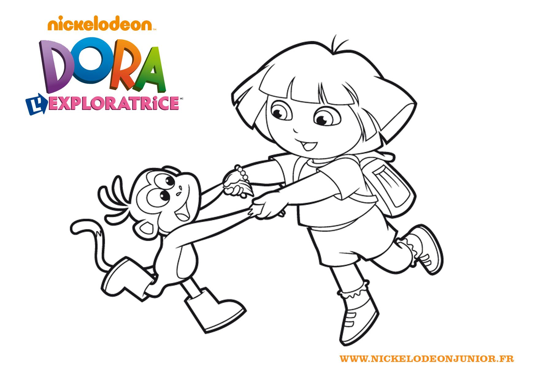 Nos Jeux De Coloriage Dora À Imprimer Gratuit - Page 9 Of 14 à Dessin A Colorier Dora