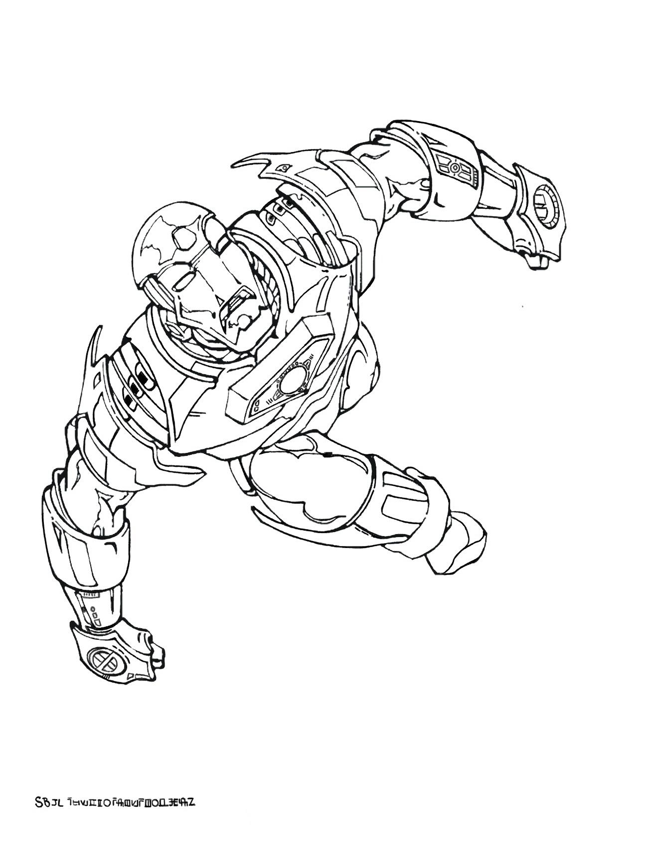 Nos Jeux De Coloriage Iron Man À Imprimer Gratuit - Page 2 avec Dessin A Colorier Gratuit Iron Man