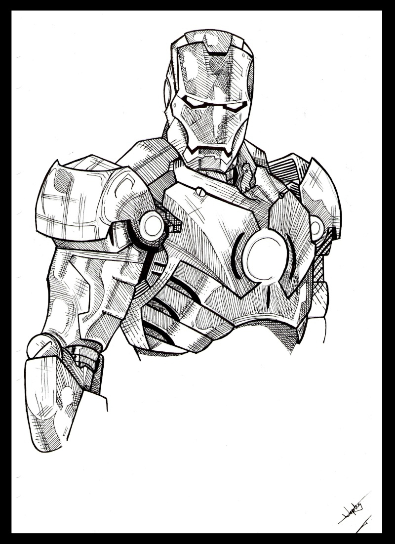 Nos Jeux De Coloriage Iron Man À Imprimer Gratuit - Page 6 destiné Dessin A Colorier Gratuit Iron Man