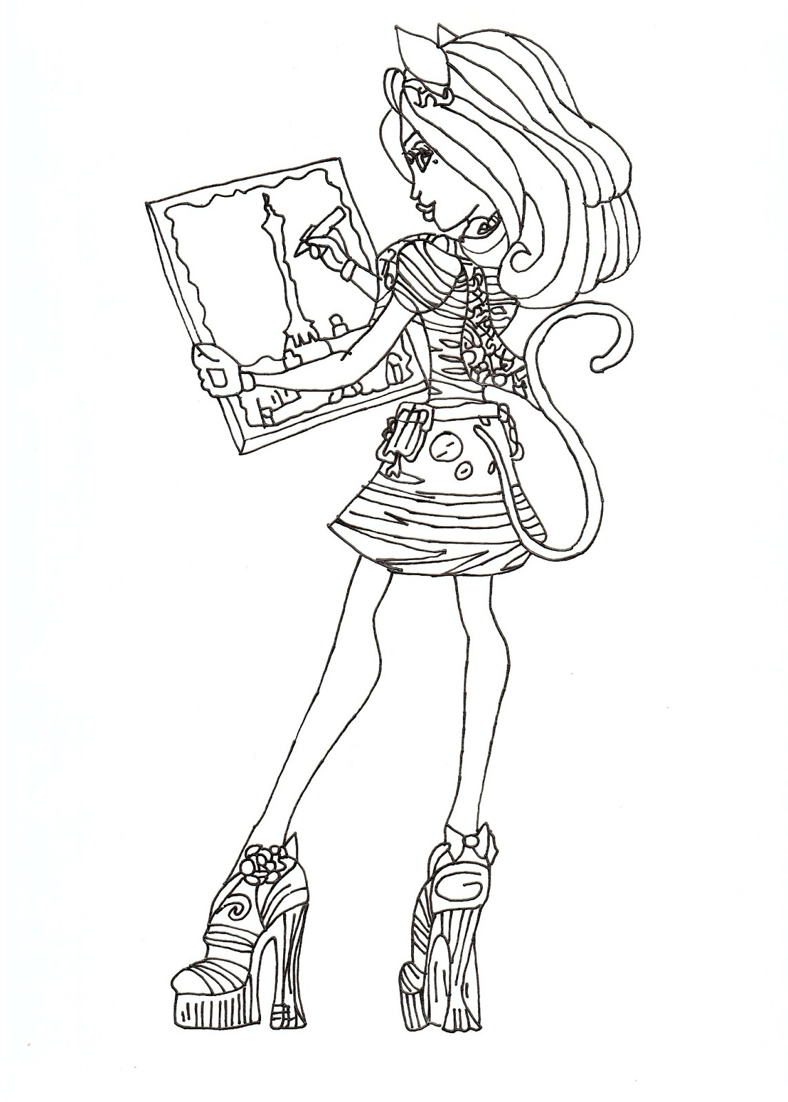 Nos Jeux De Coloriage Monster High À Imprimer Gratuit serapportantà Monster High Jeux De Coloriage