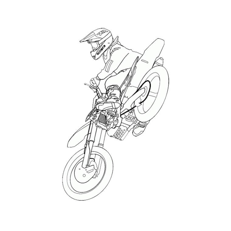 Nos Jeux De Coloriage Moto À Imprimer Gratuit - Page 2 Of 5 dedans Dessin De Moto Ktm