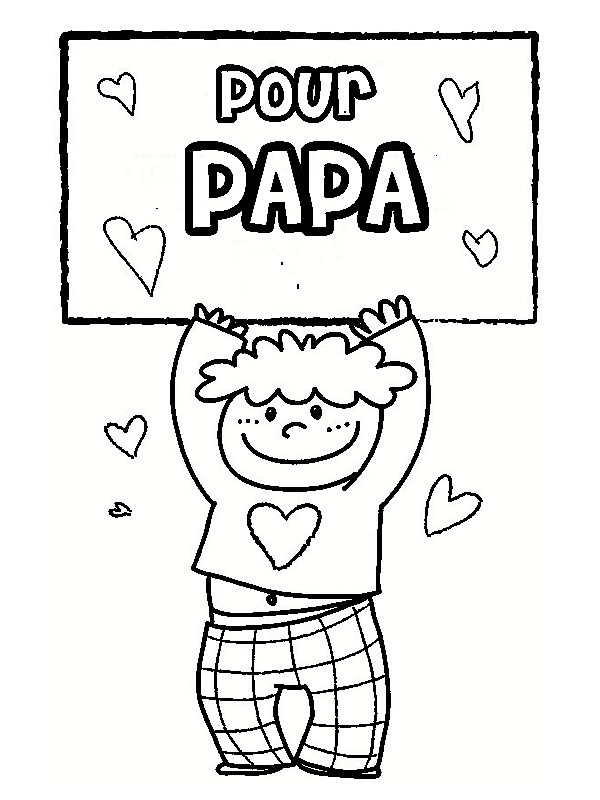 Nos Jeux De Coloriage Papa À Imprimer Gratuit - Page 4 Of 4 intérieur Page A Colorier Pour La Fete Des Peres