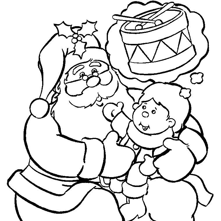 Nos Jeux De Coloriage Père Noel À Imprimer Gratuit - Page intérieur Dessin De Noel A Imprimer Gratuit