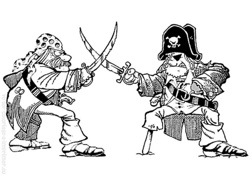 Nos Jeux De Coloriage Pirate À Imprimer Gratuit avec Dessin De Pirate À Imprimer
