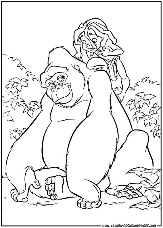 Nos Jeux De Coloriage Tarzan À Imprimer Gratuit - Page 11 tout Dessin De Tarzan