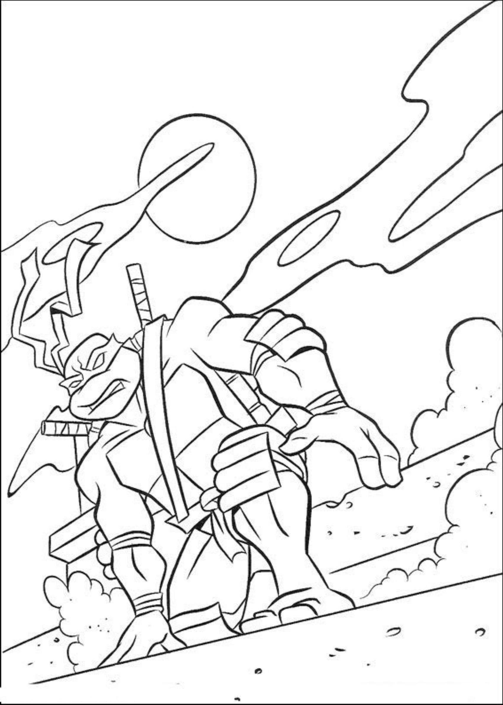 Nos Jeux De Coloriage Tortue Ninja À Imprimer Gratuit avec Coloriage Tortue Ninja A Imprimer Gratuit