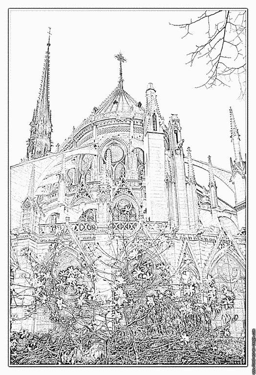 Notre Dame De Paris Coloriage – Maduya serapportantà Coloriage Notre Dame De Paris