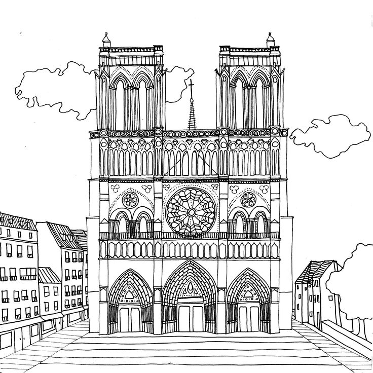 Notre Dame De Paris Par Chocobo | Paris Dessin, Notre Dame tout Coloriage Notre Dame De Paris