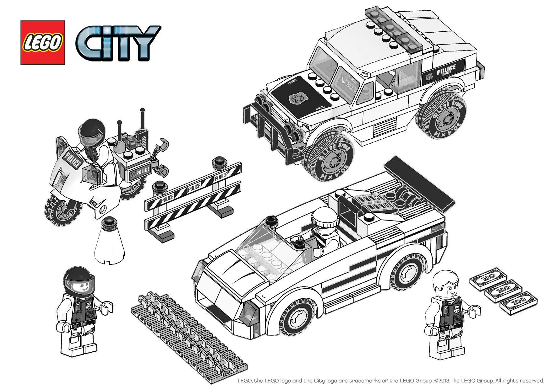Nouveau Dessin A Colorier Lego Police – Mademoiselleosaki destiné Dessin Animé Lego City