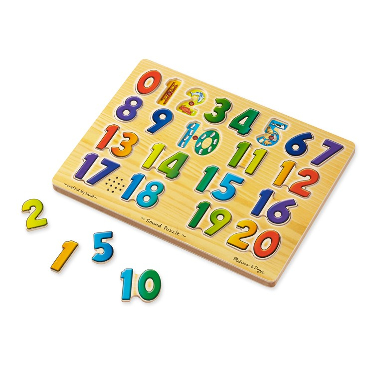 "Numbers Sound Puzzle Learning Toy - Educational Toys Planet tout Cache: .Com"" ""Learn-Numbers-In-English"""""