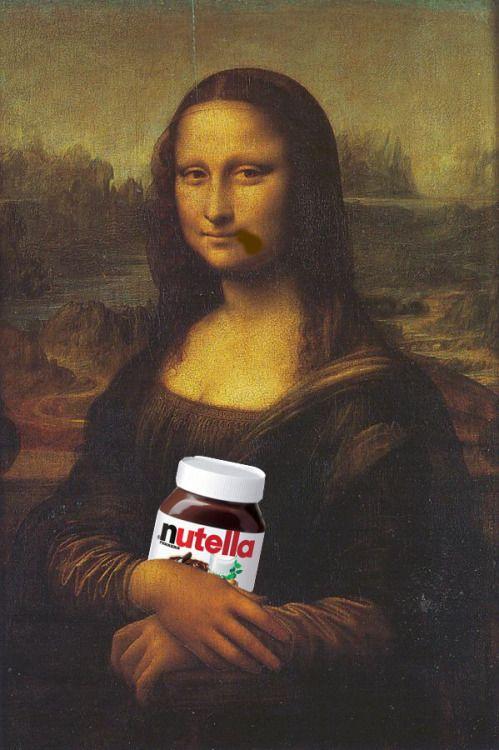 Nutella Takeover | Mona Lisa, Mona Lisa Parody, Mona Lisa destiné La Joconde Dessin