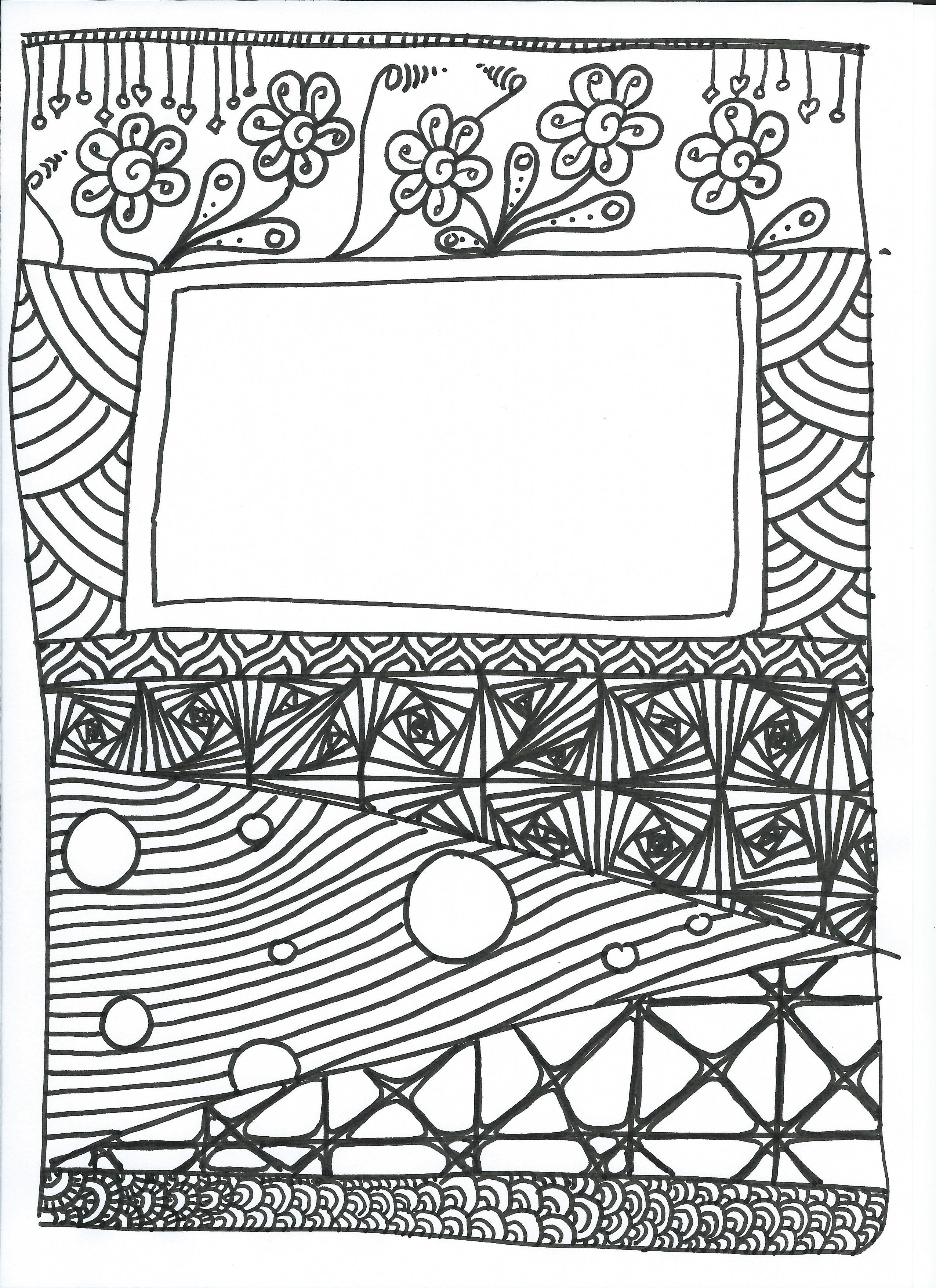Ob_B849B6_Page-Garde-Cahier (2550×3507) | Coloriage serapportantà Cahier Coloriage Adulte