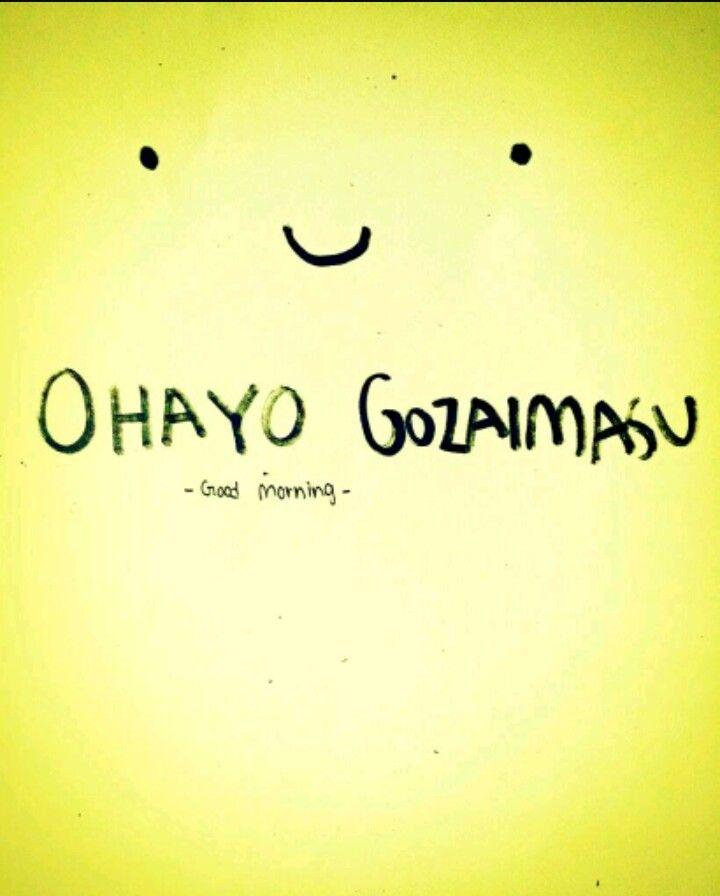 Ohayo Gozaimasu, Bonjour En Japonais   Japon, Bonjour dedans Bonjour En Japonais