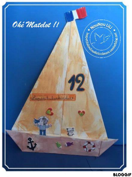Ohe Matelot - Pliage Papier - Voilier - | Pliage Papier avec Matelot Navigue Sur Les Flots