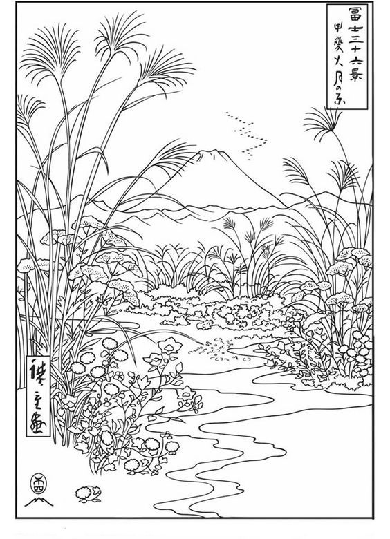 Omeletozeu | Coloriage Japonais, Image A Colorier, Coloriage dedans Dessin Japonais A Colorier