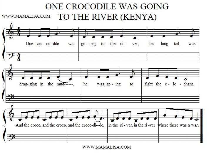 One Crocodile Was Going To The River - Chansons Enfantines intérieur Y Avait Des Gros Crocodiles Paroles
