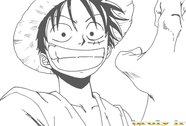 One Piece Dessin intérieur Coloriage One Piece Luffy
