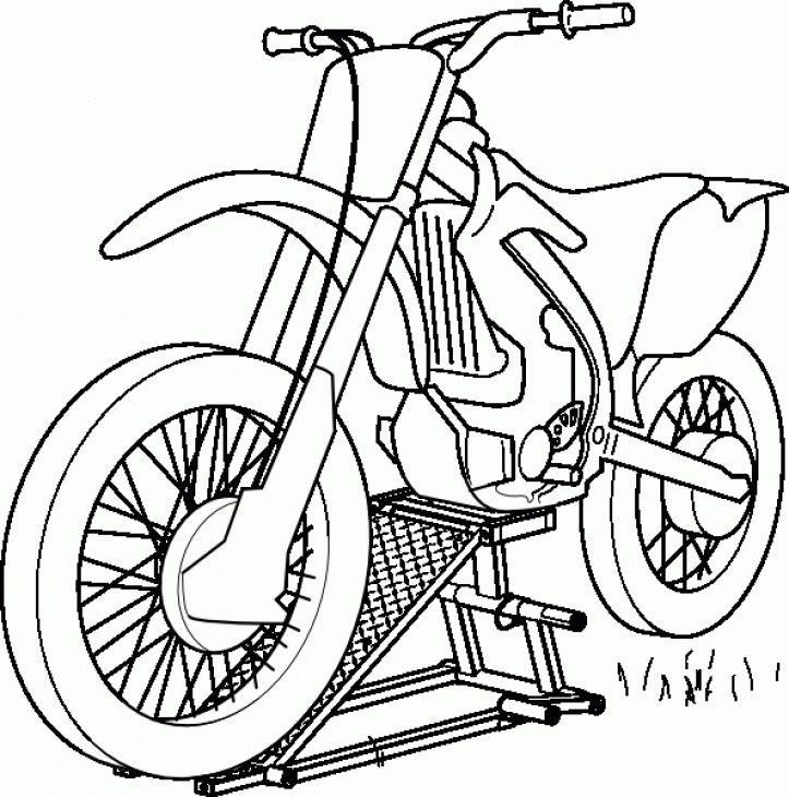 Online Printable Coloring Page Of Dirt Bike For Boys Free encequiconcerne Moto Cross A Dessiner