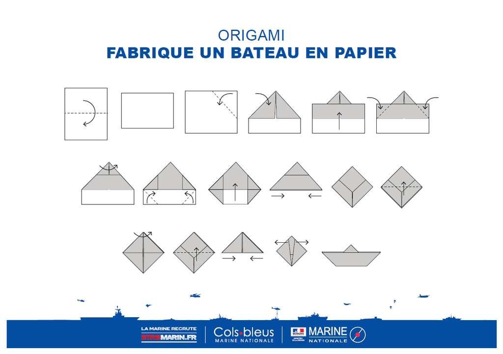 Origami | Colsbleus.fr : Le Magazine De La Marine Nationale serapportantà Origami Facile Avion