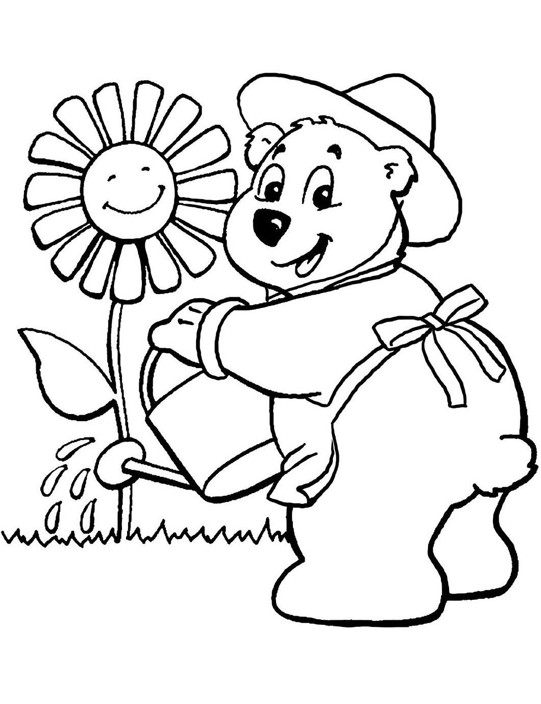 Oursons 4 - Coloriage D'Oursons - Coloriages Pour Enfants dedans Coloriage D Ourson A Imprimer