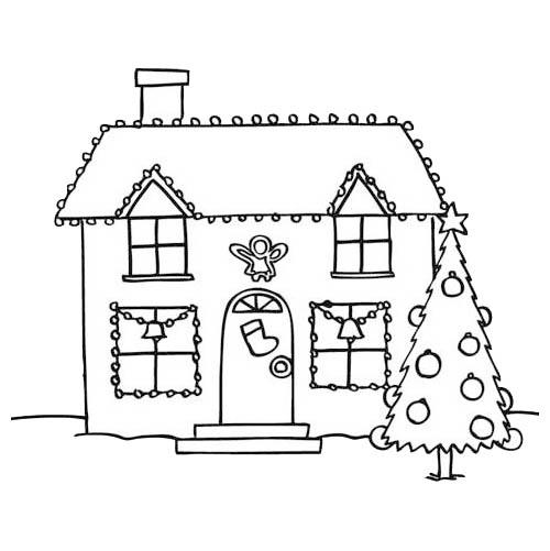 Paesaggio Di Natale intérieur Dessin Maison Facile