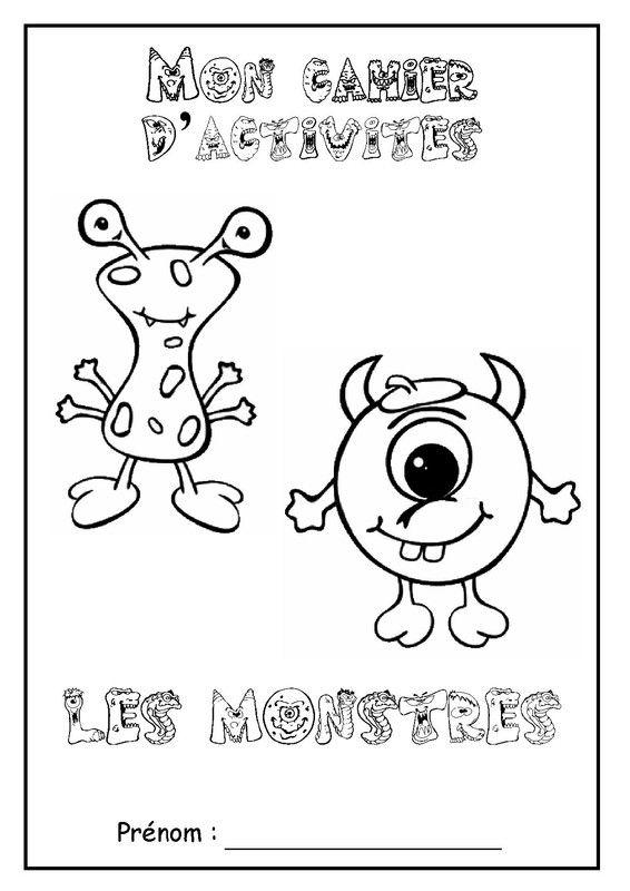 """Page De Garde Cahier D'Activités Sur Le Thème """" Les dedans Cahier De Coloriage À Imprimer Maternelle"""