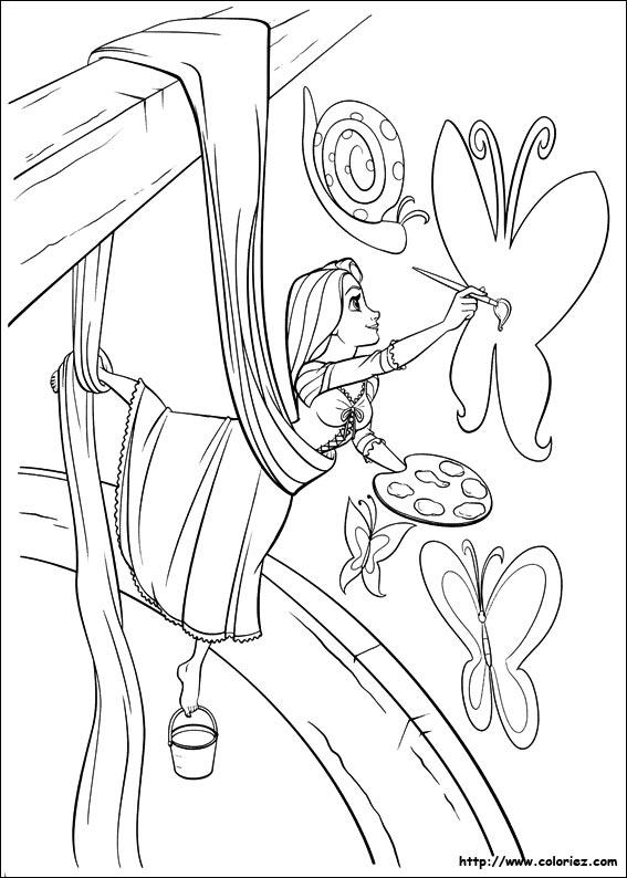 Pages De Coloriage © Raiponce dedans Dessin De Raiponce A Colorier