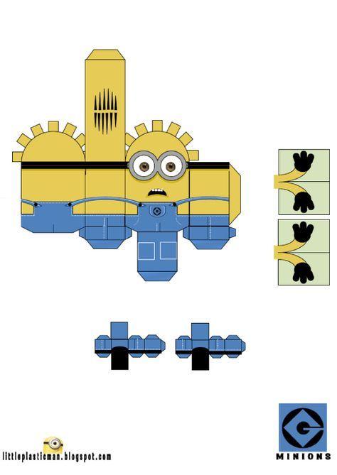 Papertoys Minions | Création | Bricolage Papier, Jouets De serapportantà Créer Un Minion