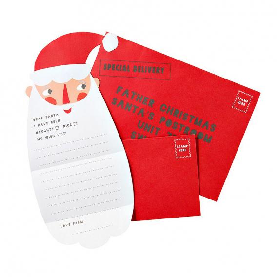 Papeterie Set Lettre Et Enveloppes Père Noël intérieur Enveloppe Pere Noel