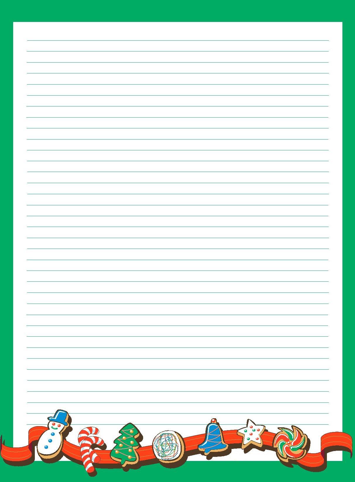 Papier À Lettre De Noël À Imprimer À La Maison Facilement encequiconcerne Ecrire Une Lettre Au Pere Noel 2020