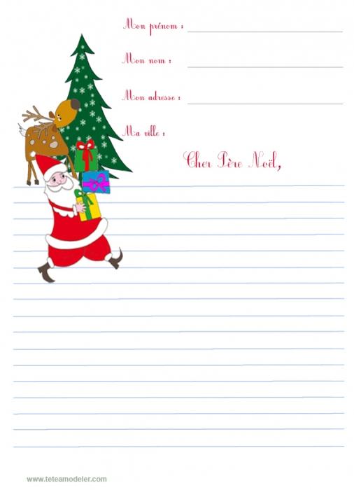 Papier À Lettre Du Père Noël Bonhomme De Neige Gratuit dedans Papier À Lettre Pere Noel