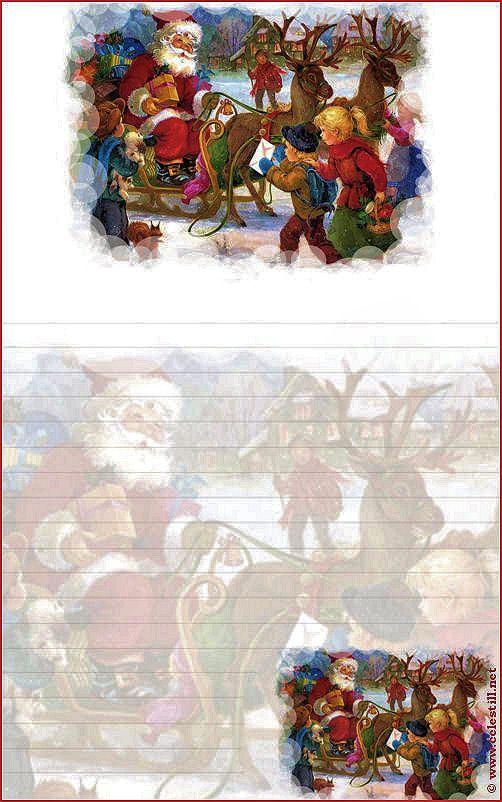 Papier À Lettre Imprimable Père Noël   Lettre A, Papier À intérieur Papier Lettre Pere Noel