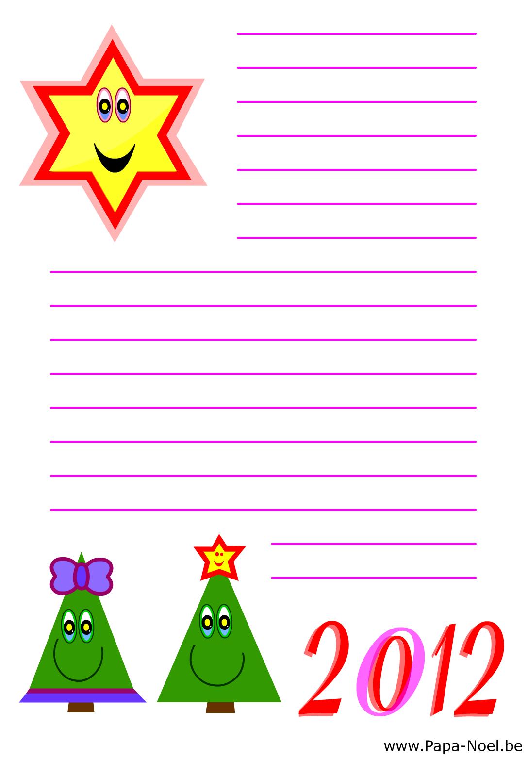 Papier A Lettre Noel À Imprimer Papeterie Noël Nouvelle dedans Papier A Lettre Noel