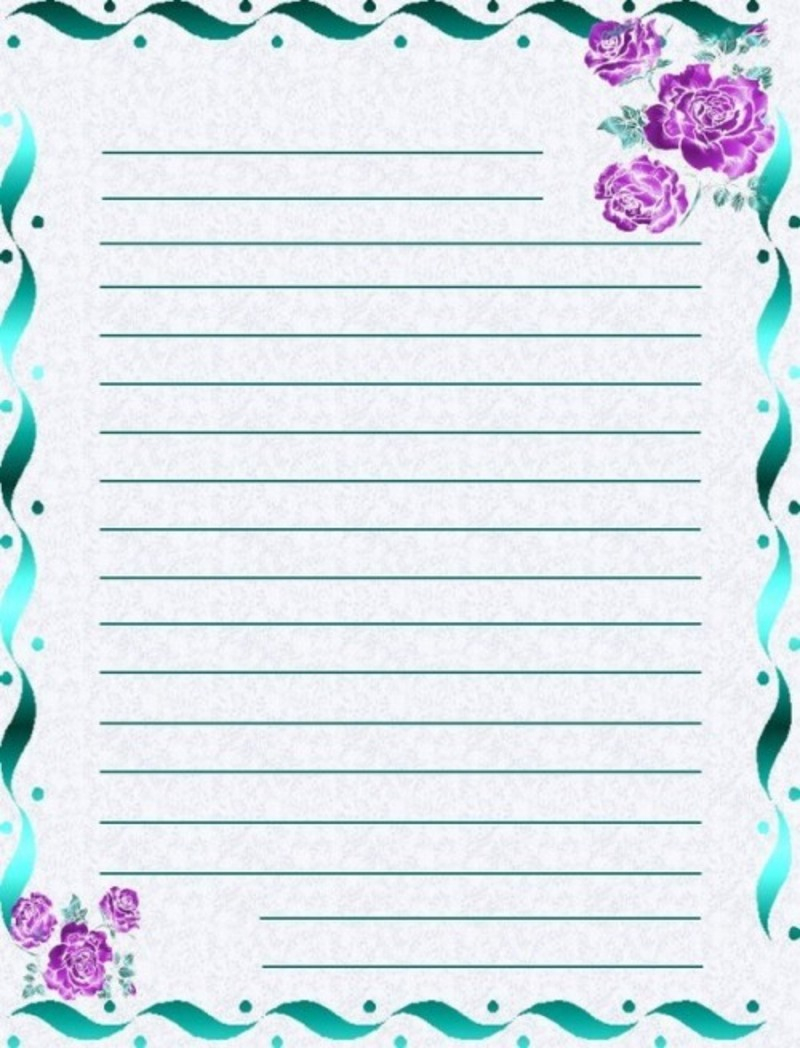 Papier A Lettre - Page 2 concernant Papier A Letre