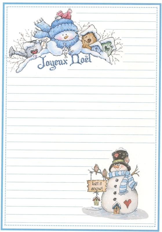 Papiers A Lettre De Noel à Papier Lettre Pere Noel