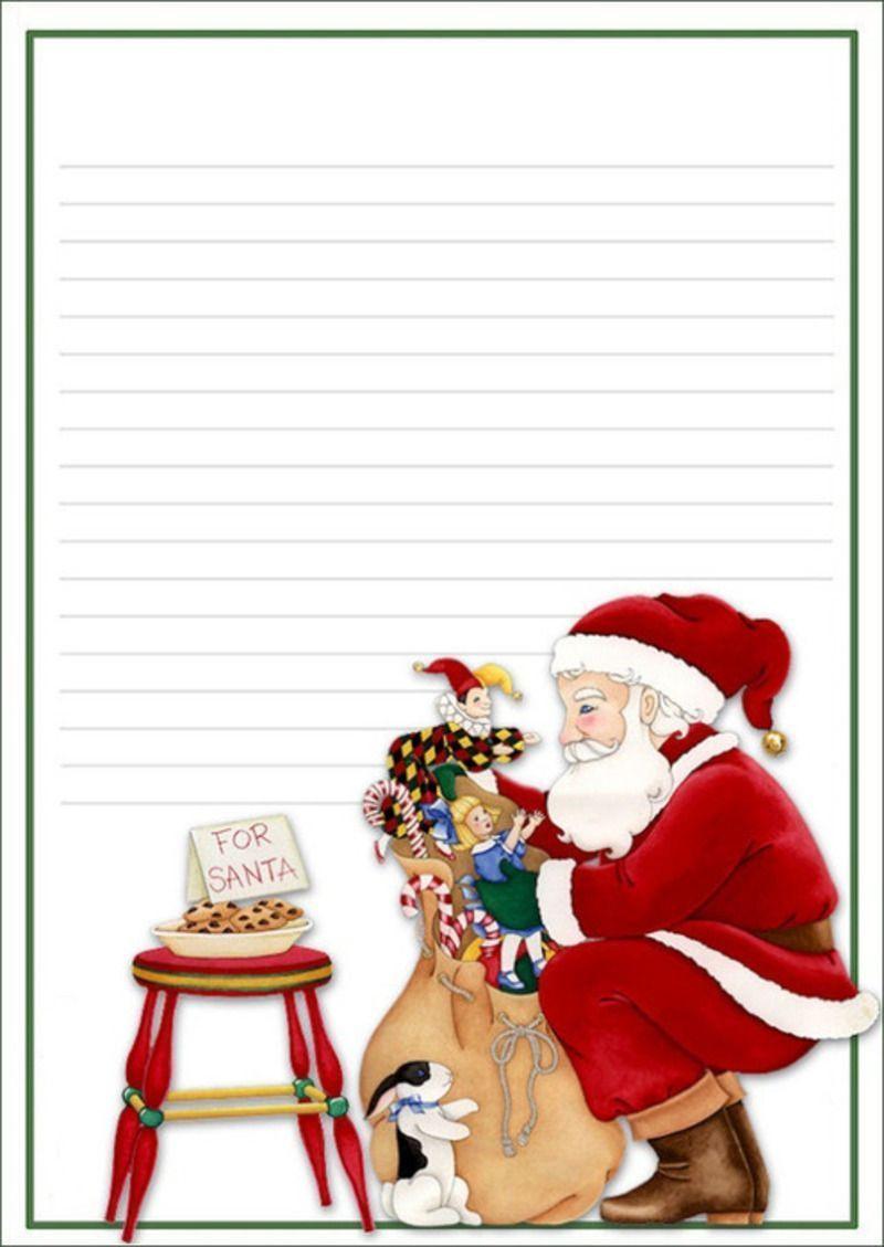 Papiers A Lettres Noel avec Image De Pere Noel Gratuite A Imprimer