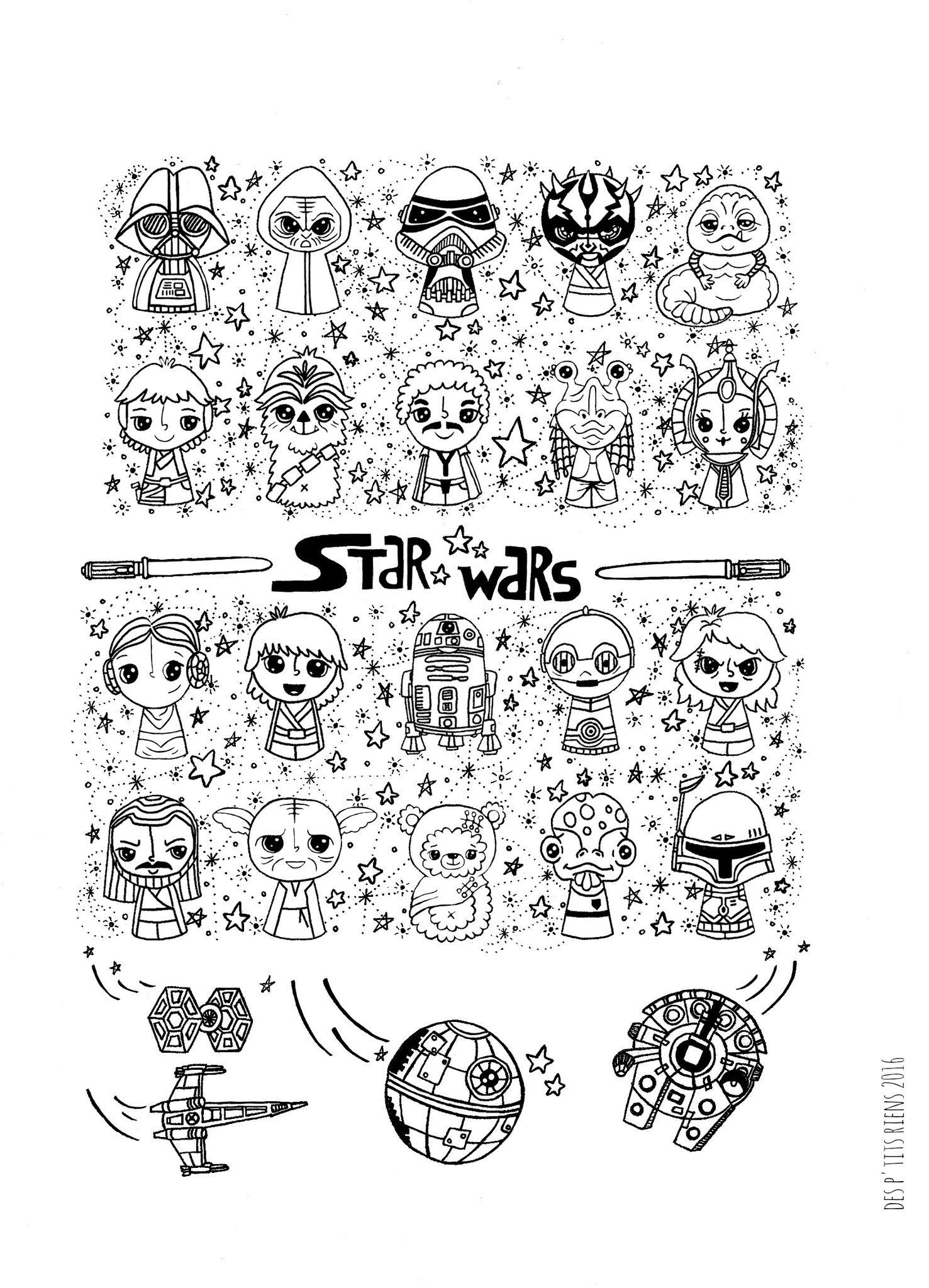 Parce Qu'Il N'Est Pas Trop Tard - Des P'Tits Riens tout Coloriage Star Wars A Imprimer
