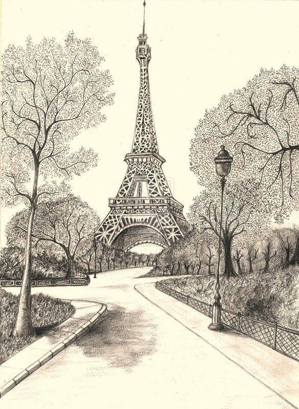 París, Torre Eiffel | Papier Peint De Paris, Art Parisien serapportantà Tour Effel Dessin