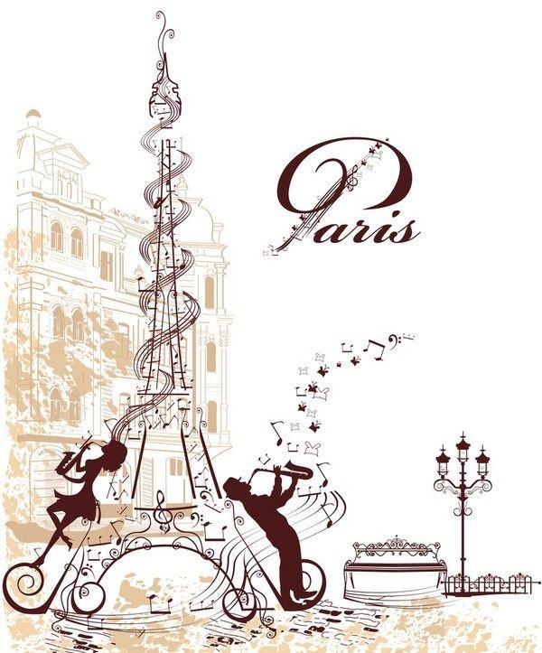 Paris,Tour Eiffel | Illustration Parisienne, Image Paris dedans Tour Eiffel À Imprimer