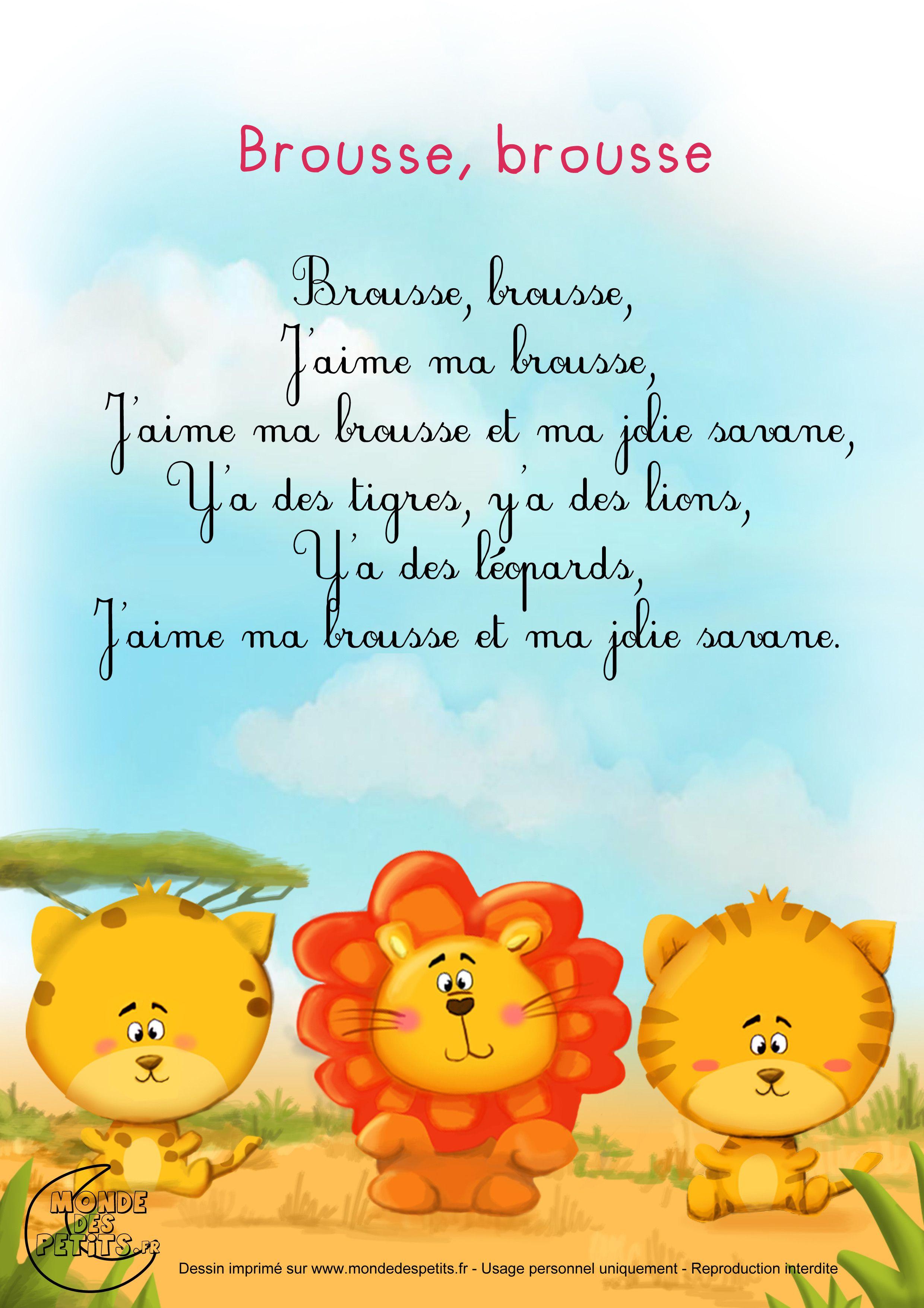 Paroles_Brousse, Brousse, J 'Aime La Brousse | Comptines serapportantà Contines Enfant