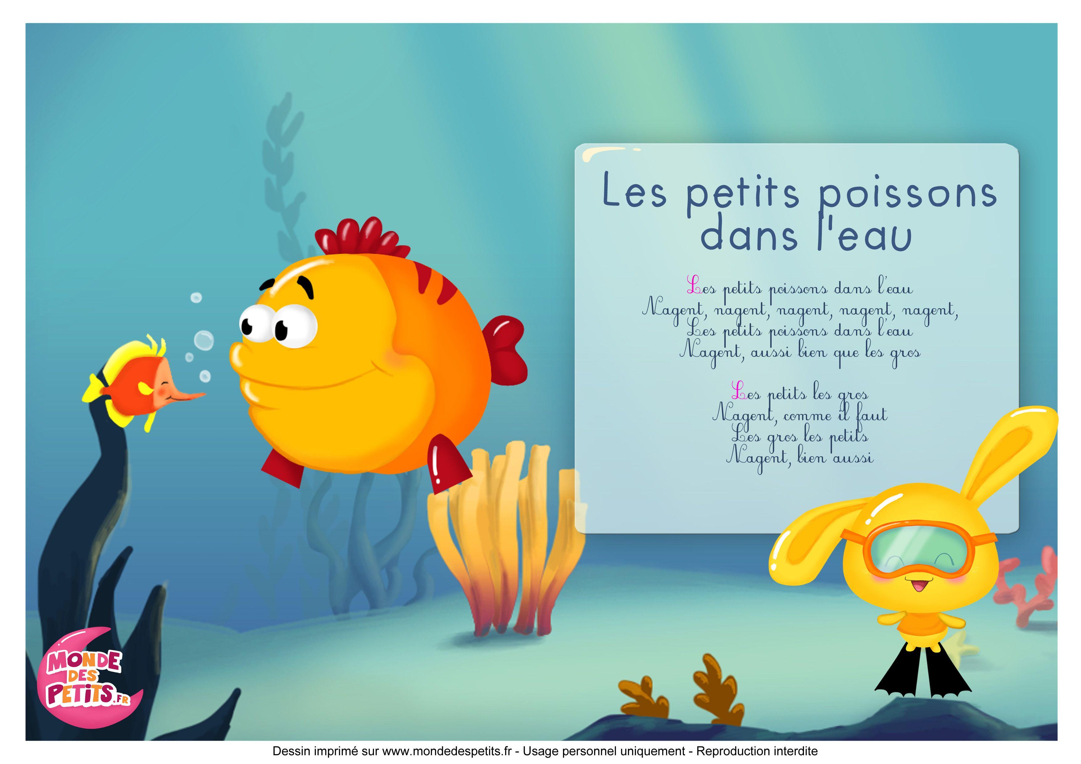 Paroles_Les Petits Poissons Dans L'Eau-Les Titounis avec Les Chanson Pour Les Bébé