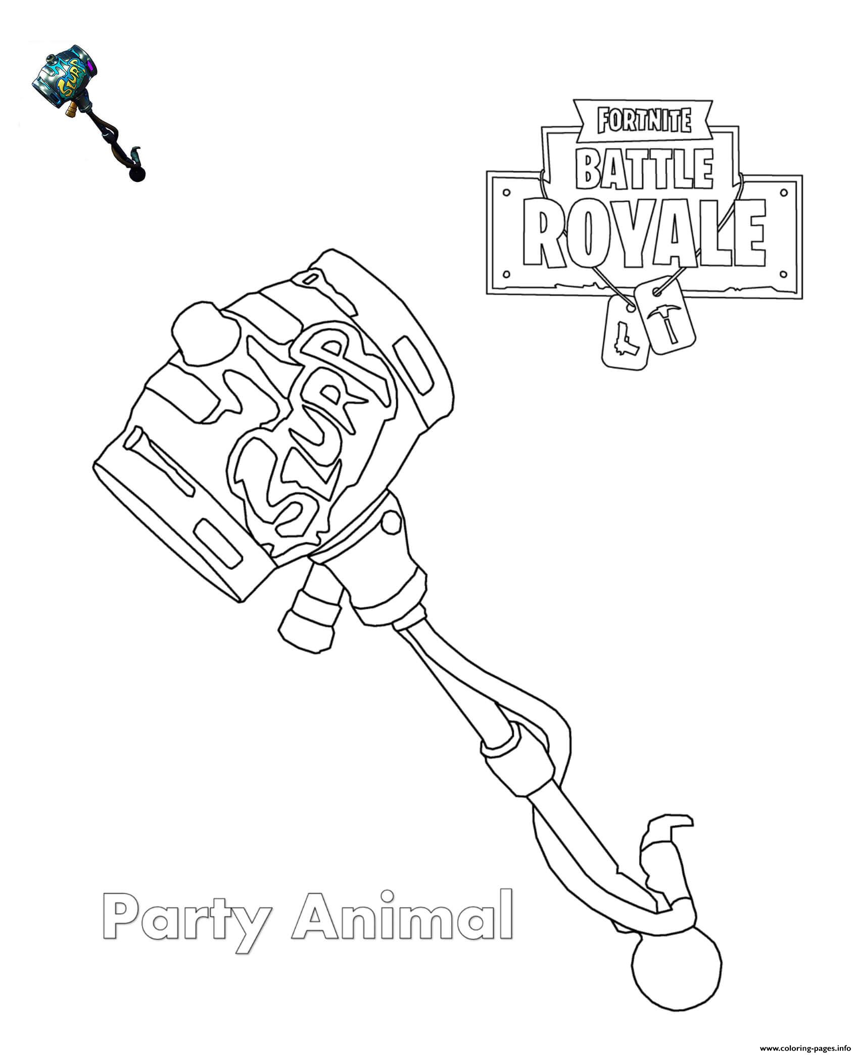 Party Animal Fortnite Coloring Pages Printable concernant Coloriage De Fortnite