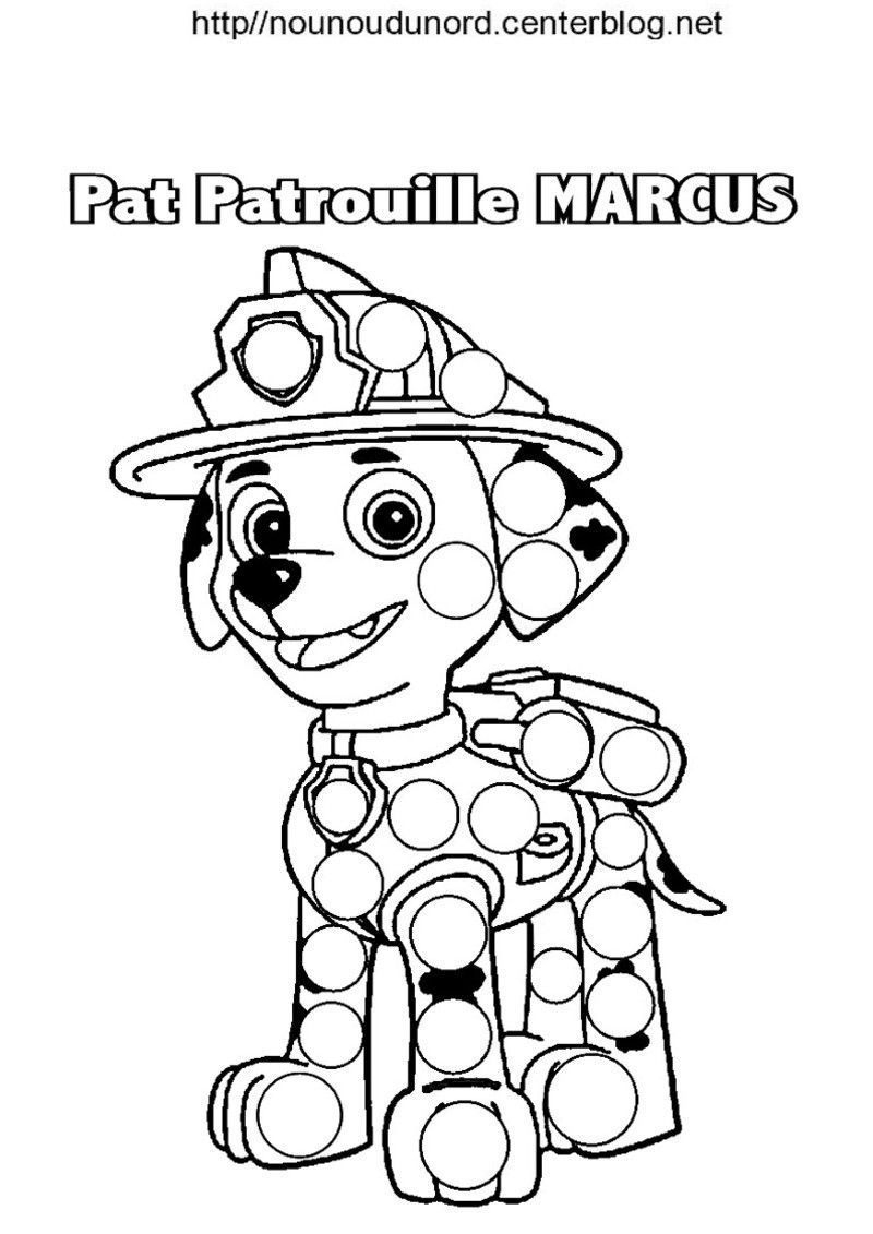 Pat Patrouille Ryder Et Marcus Coloriage Pour Les Gommettes pour Imprimer Coloriage