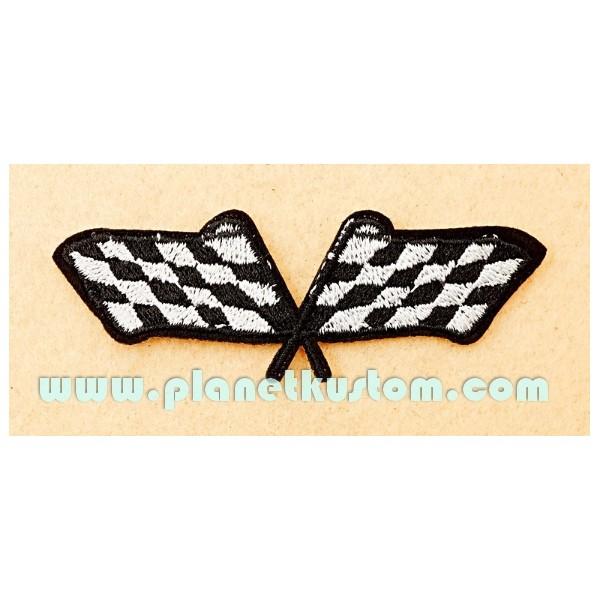 Patch Racing Flags Drapeaux Damier Courses Automobiles concernant Damier À Imprimer