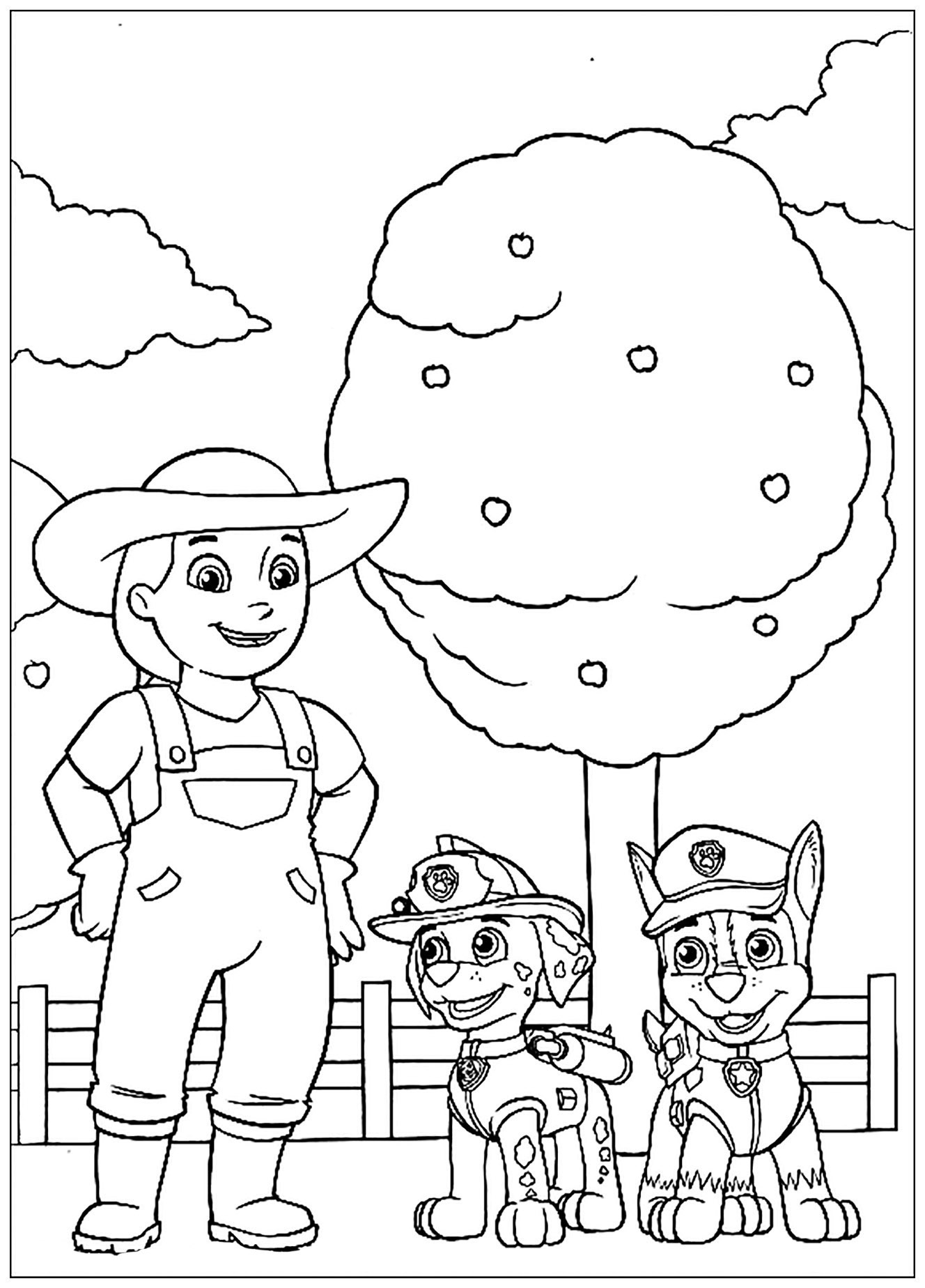 Paw Patrol To Color For Children - Paw Patrol Kids tout Coloriage Pat Patrouille