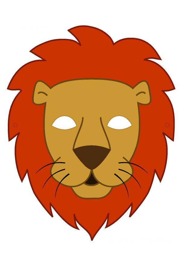 Pdf Masque De Lion En Couleur | Masque Lion tout Masque Enfant A Imprimer