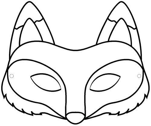 Pdf Masque Renard A Colorier   Masque Renard, Masque concernant Masque Enfant A Imprimer